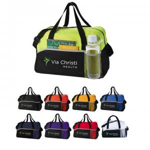 Sport Duffel Bag with Water Bottle Holder