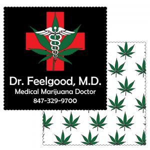 "6"" x 6"" Marijuana Themed Microfiber Cleaning Cloths"