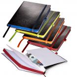 Faux Leather Writing Journal Color Paper Edges