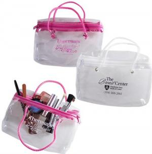 Strings Attached Clear Carry Cosmetic Tote