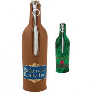 Zippered Single Bottle Wine Coolie