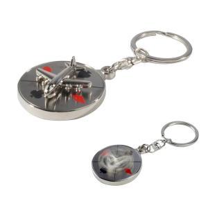 Spinning Airplane Casino Theme Keychain