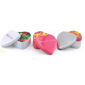 Empty Heart  Shaped Tin