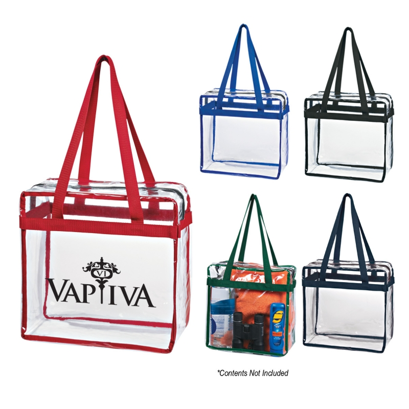Crystal Clear Tote with Zipper