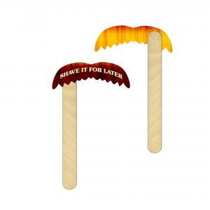 80's Style Mustache On A Stick
