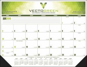 """Hoover Full Color 22"""" x 17"""" Desk Blotter Calendar"""