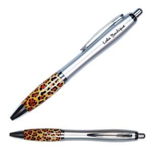 Leopard Print Grip Retractable Pen