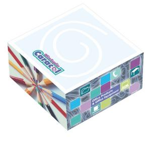 """BIC 3"""" x 3"""" x 1-1/2"""" Adhesive Sticky Note Cube Pad"""