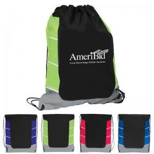 Color Accent Drawstring Backpack