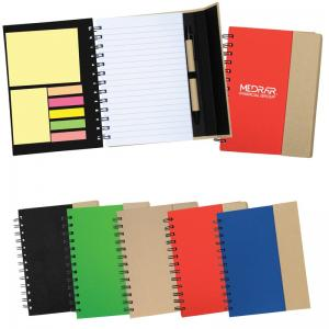 Recycled Magnetic Journal with Assorted Sticky Notes