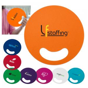 Circle Shaped Hand Fan with Finger Grip