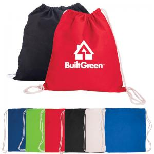 Eco-Friendly Cotton Drawstring Backpack