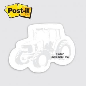 Tractor Shaped Post It Notes
