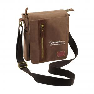 Brown Canvas iPad and Tablet Bag