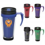 Bold Color Double-Walled Travel Mug