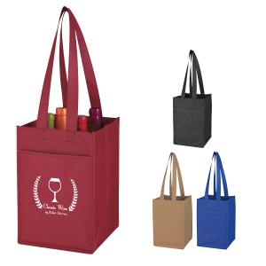 Bold Color 4 Bottle Wine Tote