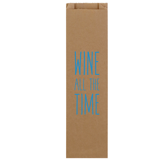Tall Recycled Paper Kraft Wine Bag