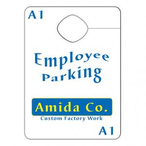 Custom Auto Mirror Hang Tag