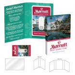 Credit Card Style Dental Floss/Mirror Booklet