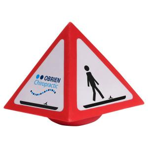 Warning Sign Shaped Stress Reliever
