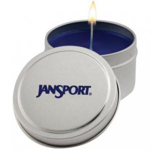 Round 6 Ounce Tin Aromatherapy Candle