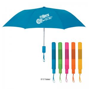 "42"" Crescent Neon Telescopic Folding Umbrella"