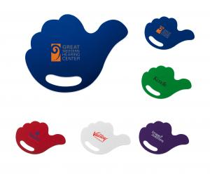 Thumbs Up Hand Fan with Die Cut Grip